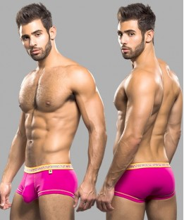 Glow Pop Boxer with Almost Naked - Fuchsia