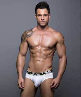Vibe Sports & Workout Tagless Brief - White